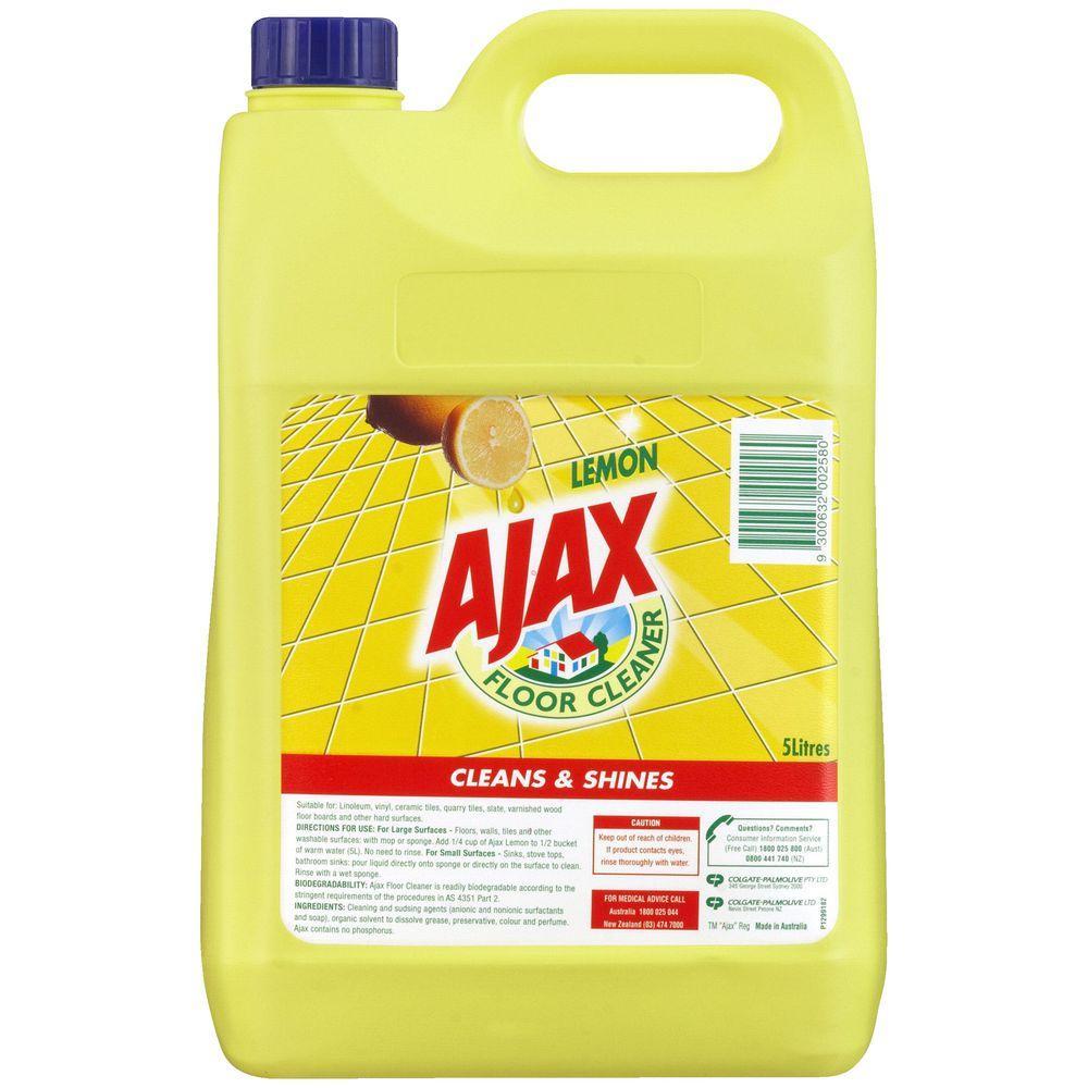 Ajax Floor Lemon 5ltr 2 bottles - CHEMICALS, FLOOR ...