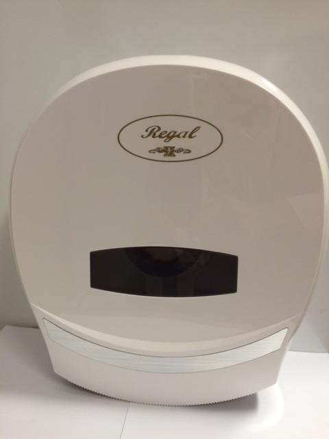 Regal Jumbo Toilet Roll Dispenser Single White Toilet