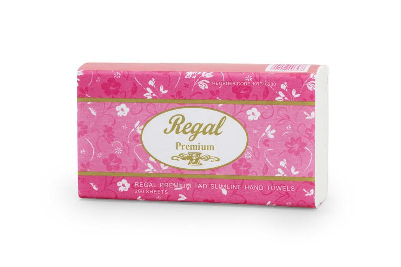 Regal Premium Tad Slim Hand Towel 200 Sheet 16 Packs