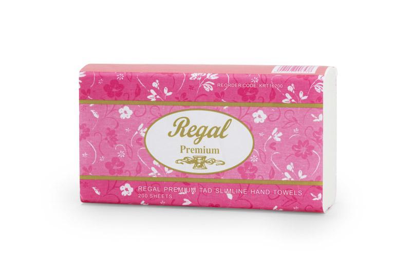 Regal Premium TAD Slim Hand Towel 200 sheet 16 packs