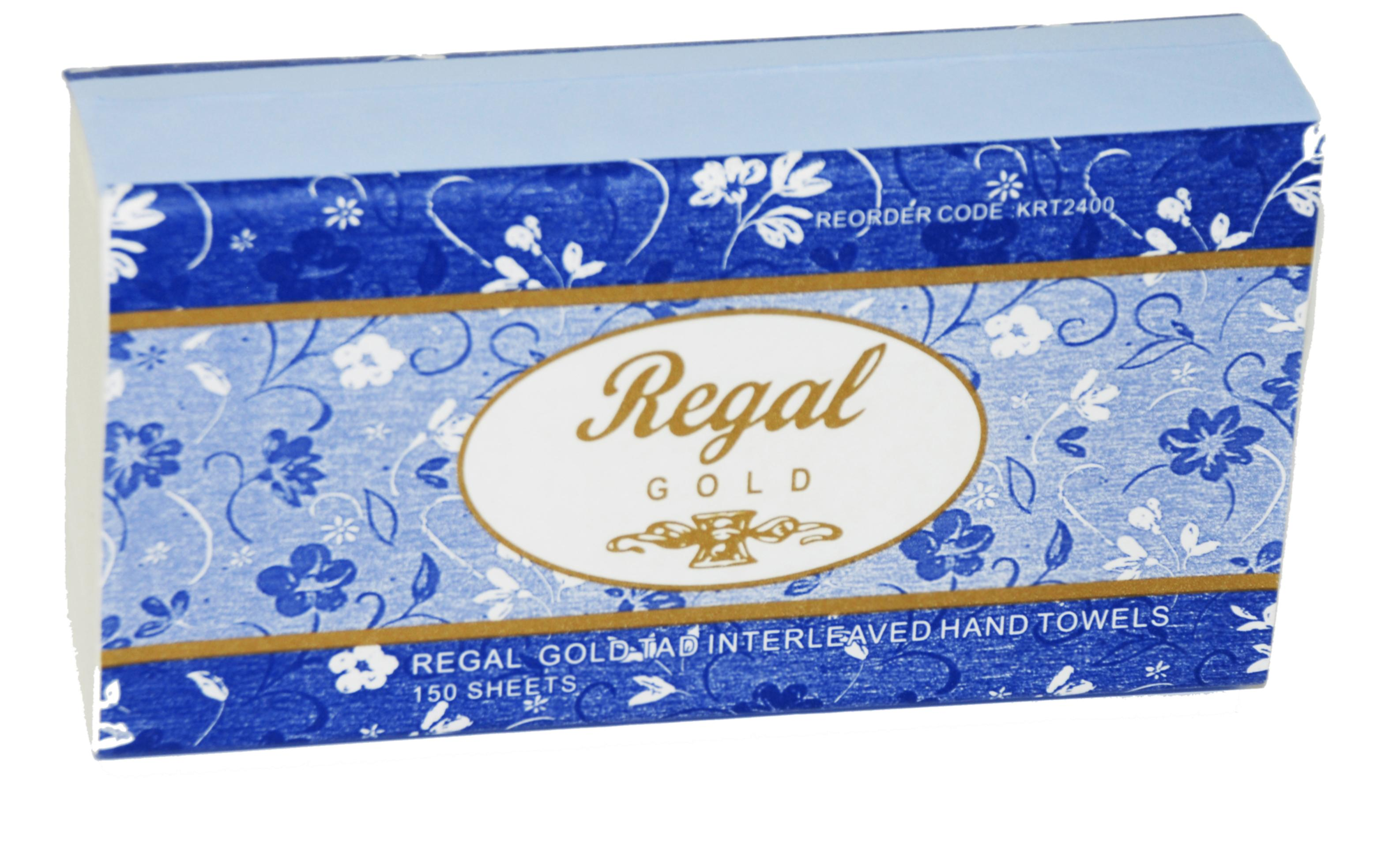 Regal Gold TAD Interleaved Hand Towel 150 sheet x 16 packs