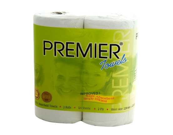 TruSoft Premier Kitchen Towel Recyc 2 ply 60 sheet 20 rolls - FOOD ...