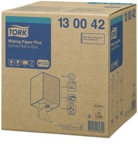 Tork Wiper Plus Combi Roll 650 Wipes 1 Roll - Click for more info