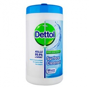 Dettol Antibac Surface Wipes 80S