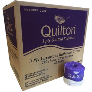 Quilton Toilet Paper 3 Ply 190 Sheet 48 Rolls