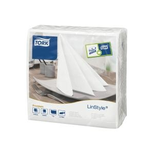 Tork Linstyle Dinner Napkin White - Click for more info