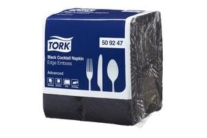 Tork Cocktail Napkin Black 2 ply 100 sheet 20 pack - Click for more info