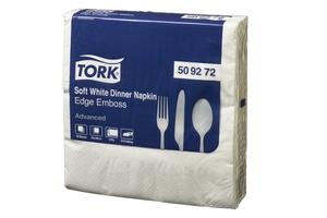 Tork Dinner Napkin 3 ply 1/4 Fold White 50 sheet 24 packs - Click for more info