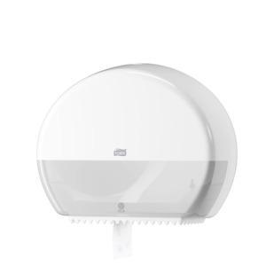 Tork Mini Jumbo Toilet Roll Dispenser White T2 - Click for more info