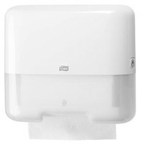 Tork Mini Jumbo Twin Roll Dispenser White T2 - Click for more info