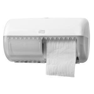 Tork Twin Toilet Roll Dispenser White T4 - Click for more info