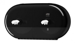 Tork Smartone Twin Mini Toilet Roll Dispenser T9 Black - Click for more info