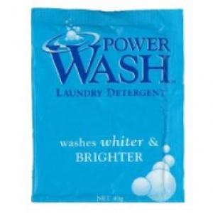 Power Wash Laundry Powder Single Sachet 40Gm X 125