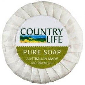 Pental Country Life Pleat Wrapped Soap 40G 250 Cakes