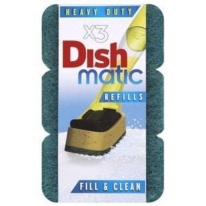 DISHMATIC dish brush sponge refill 3pk - Click for more info