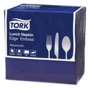 Tork Dark Blue 2 Ply Lunch Napkin 100/Pack 18 Packs - Click for more info