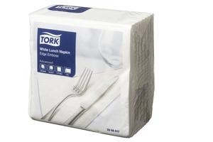 Tork Luncheon Napkin 2 ply 1/4 Fold White 100 sheet 18 packs - Click for more info