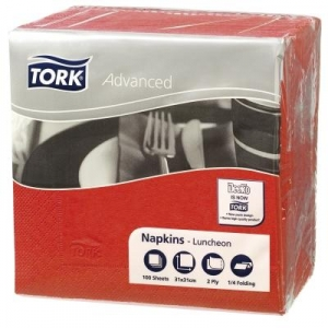 Tork 2Ply Luncheon Napkin Red 100 X 18 - Click for more info