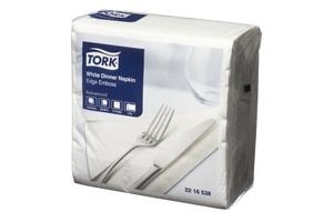 Tork Dinner Napkin 2 Ply Edge Emboss White 100 Sheet 12 Pkts - Click for more info