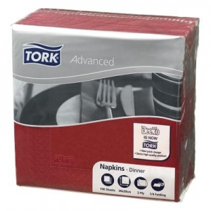 Tork 2Ply Dinner Napkin Burgundy 100'S - Click for more info