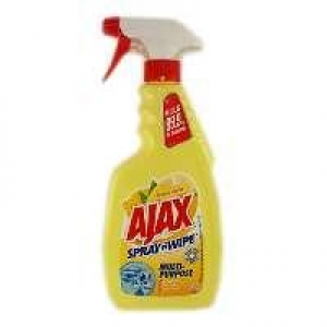 Ajax Spray & Wipe Lemon Trigger 500ml 8 bottles - Click for more info