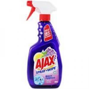 Ajax Spray 'N Wipe Lavender & Citrus Trigger 500Ml X 8