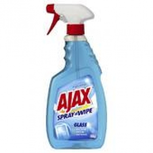 Ajax Spray & Wipe Glass Cleaner Trigger 500Ml 8 Bottles