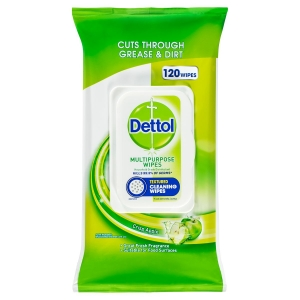 Dettol Mutli Purpose Wipes Crisp Apple 120's x 4