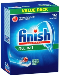 Finish All In 1 Dishwashing Tablets Pack 112 X 3 - Click for more info