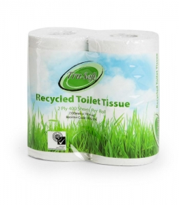 TruSoft Toilet Roll Recyc 2 ply 400 sheet 48 rolls (polybag) - Click for more info
