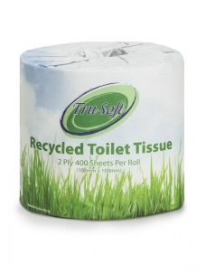 TruSoft Toilet Roll Recycled 2 ply 400 sheet 48 rolls - Click for more info