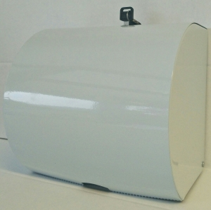 Metal Roll Towel Dispenser Lockable White
