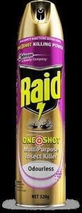 **use 322830***Raid One Shot  Insect Killer 320G Ctn Of 6