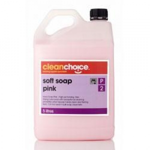**use RSOAP5L** C/Choice Soft soap pink 5lt - Click for more info