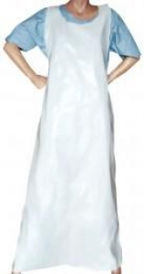 Sentry White Disposable Apron, 100/Pack X 6