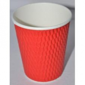 Beta D/Wall 8oz Cup Red 500/Ctn - Click for more info