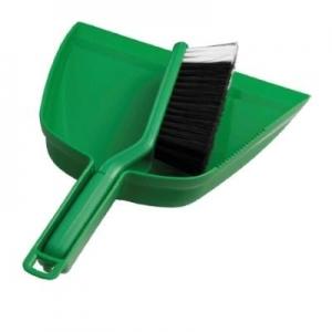 Oates Dustpan & Bannister Brush Set Green