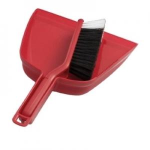 Oates Dustpan & Bannister Brush Set Red