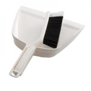Oates Dustpan & Bannister Brush Set White