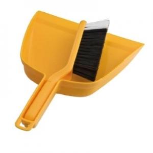 Oates Dustpan & Bannister Brush Set Yellow