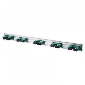 Aluminium Broom Handle Holder Oates (holds 5) Green - Click for more info