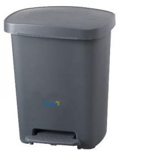 30Ltr Peddle Bin - Grey - Click for more info