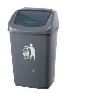 40 Ltr Flip Bin Grey - Click for more info