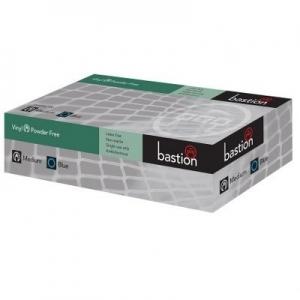 Bastion Glove - Vinyl, P/f, Blue, Small, 100pcs per pack