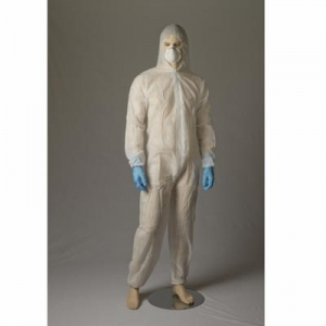Polypropylene Coverall, White, Large - Carton/50 - Click for more info