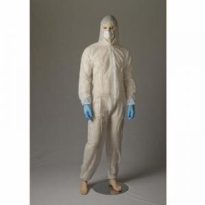 Polypropylene Coverall, White, Large - Carton/50