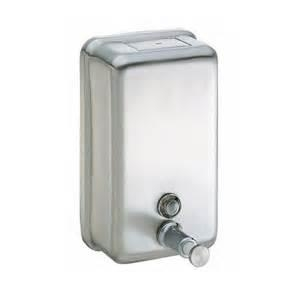 S/Steel Soap Disp Vertical - Click for more info