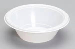 "Plastic Bowl White 7"" X 500"