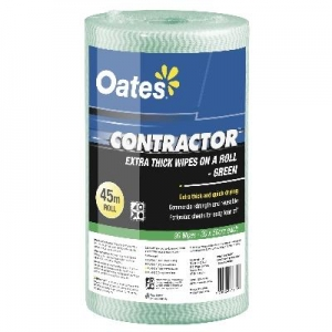 Oates Contractor  Green Perforated Wipes 45M Roll