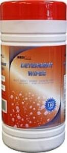 Detergent Wipes 30Cm X 20Cm Tub/100 Ctn/4 - Click for more info